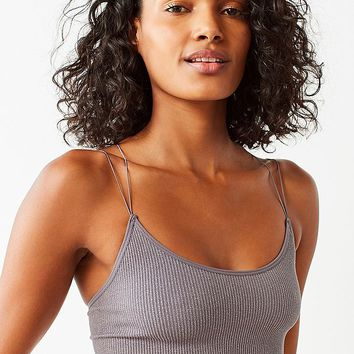Out From Under Cindy Sparkle Seamless Cropped Cami | Urban Outfitters