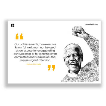 Preseed Prints Motivational Quote by Nelson Mandela Poster