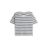 T-shirt cropped rayé - Tommy Hilfiger - Galeries Lafayette
