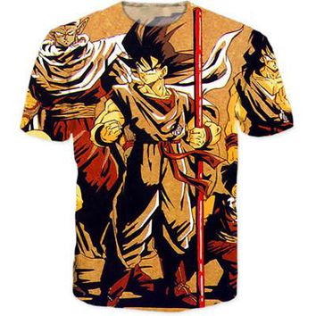Dragon Ball Z Japanese 3D Short Sleeve Anime T-Shirt V19