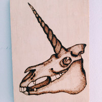 Unicorn skull illustration