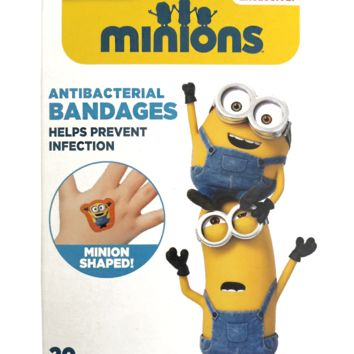 AvailableThis Week! Minion Despicable Me Antibacterial Bandages Band Aid 20 Assorted Shapes by ILLUMINATION Entertainment (Made in USA)