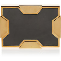 Lee Savage - Space small two-tone box clutch