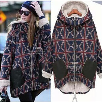Plus Size Xxxl Xxxxl 5xl Warm Thick Cotton Jackets Cashmere Winter Coat  Women Manteau Femme Women Jacket Chaquetas Mujer Poncho