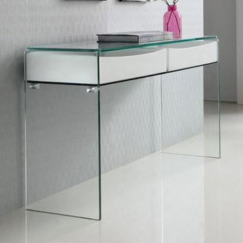 Casabianca Ibiza Glass Console Table - Walmart.com