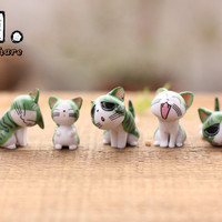 NEW Zakka home micro garden animals craft kawaii cute Cheese cats model Action Figure Toys DIY accessories ornaments props Alternative Measures