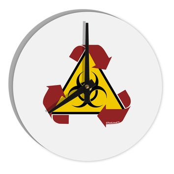 "Recycle Biohazard Sign 8"" Round Wall Clock  by TooLoud"