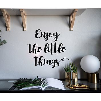 Vinyl Wall Decal Quote Words Enjoy Little Thing Stickers Mural 22.5 in x 19.5 in gz142