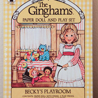 The Ginghams Paper Doll Becky's Playroom on Etsy