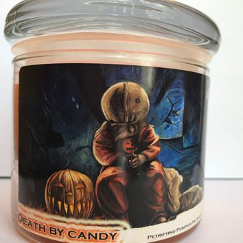 Death by Candy - 12.7 Ounce Soy Blend Candle-Pumpkin Pie Spice Scent