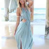 Star Stylish Sexy Dress Maxi Dress Chiffon Prom Dress [6338908801]