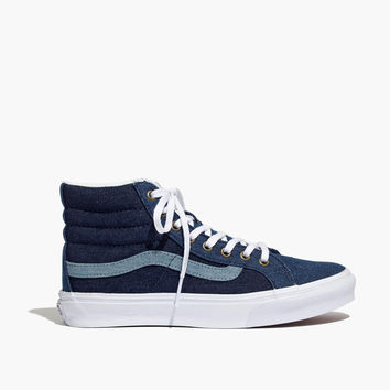 Madewell x Vans® Sk8-Hi Slim High-Top Sneakers in Denim : shopmadewell AllProducts | Madewell