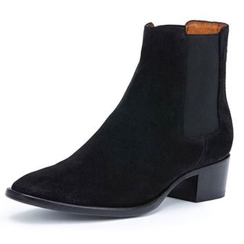 Frye Dara Chelsea Black Short Leather Boots