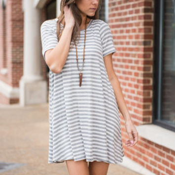 Plain To See Dress, Heather Gray