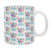 Andi Bird Ride A Bike Sketchy White Coffee Mug