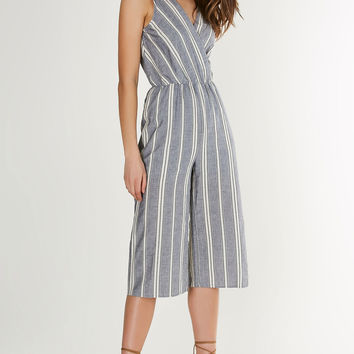 Front In Line Cropped Jumpsuit