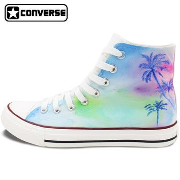 palm trees painted converse