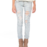 Destroyed Silver Splattered Jeans - 2020AVE