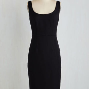 ModCloth LBD Long Sleeveless Sheath Noir Necessity Dress