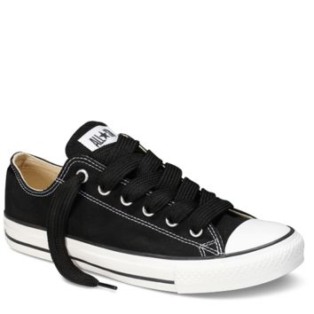 "Black Low Top Replacement 45"" Lace : Converse Shoelaces 