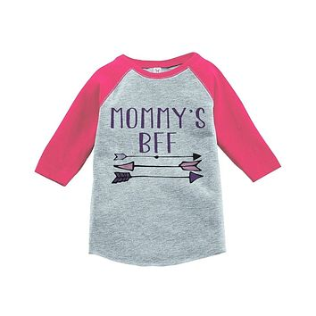 Custom Party Shop Girls' Mommy's BFF Vintage Baseball Tee