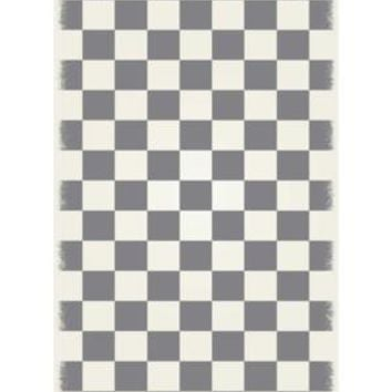 English Checker Design  Size Rug: 4ft x 6ft green & white colors