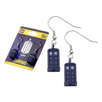 Doctor Who Tardis Hook Dangle Earrings