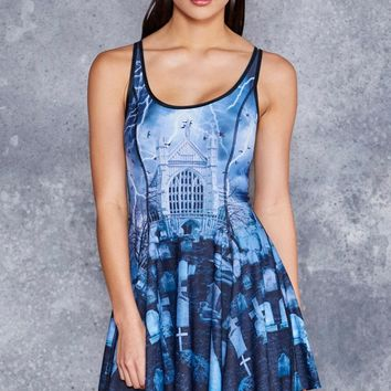 INVOCATION VS HAUNTED GRAVEYARD INSIDE OUT DRESS - LIMITED