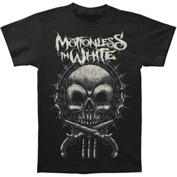 Motionless In White Men's  Skull Guns T-shirt Black Rockabilia