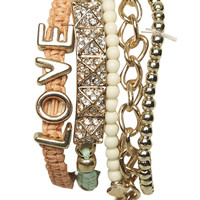 5 Piece Friendship Bracelet | Shop Jewelry at Wet Seal