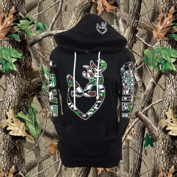 Love Country Camo Black Hoodie