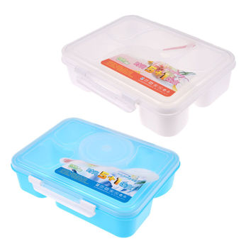 5+1 Bento Box Picnic Container Portable Microwave Lunch Box for Kids Food Storage Box Dinnerware Sets with Spoon 1400ML