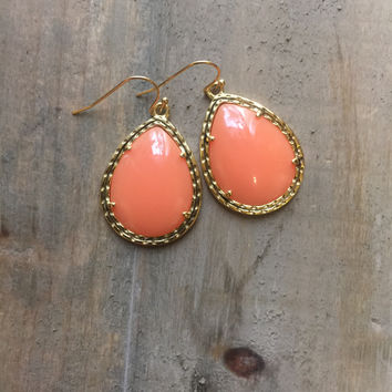 "Beaucoup Teardrop Earrings (1.5"" long)"