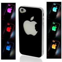 Group Up@ New Sense Flash Light Case Cover for Iphone 4/4s LED LCD Color Changed