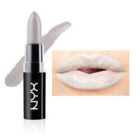 "NYX Macaron Pastel Lippies Lipstick - Black Sesame : MALS10 ""Light Gray"" 0.16 oz. / 4.5 g"