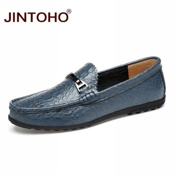 Men Genuine Leather Shoes Flats Shoes Fashion Casual Male Shoes Men Loafers Boat Shoes
