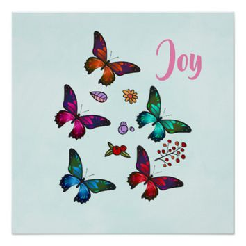 Pretty Little Butterflies Joy Poster