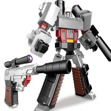 Mini 15CM Transformation Gun Robot Toys Cool Military Model Action Figures Plastic ABS + Alloy Movie Anime Classic Toy Boy Gift