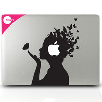 Vinyl MAC DECAL laptop stickers Wall Geekery Steampunk by stikrz