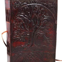 Leather Bound Journal Diary Notebook - Tree of Life Emboss