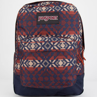 Jansport Black Label Superbreak Backpack Burnt Henna Abstract Angles One Size For Men 25283934901