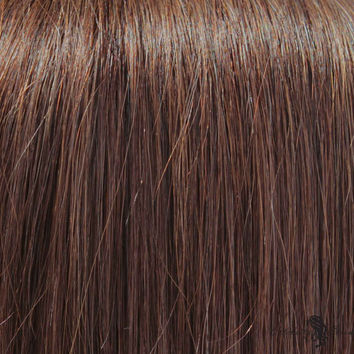 """21"""" Clip In Remy Hair Extensions: Medium Brown No. 4"""