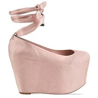 Jeffrey Campbell X Wildfox Ballet Platform in Satin Pink at Solestruck.com