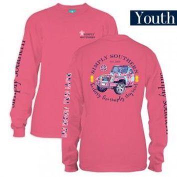 "*Closeout* Youth Simply Southern Long Sleeve - ""Jeep"""