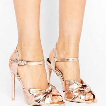 Lost Ink Wide Fit Knot Dancing Heeled Sandals at asos.com