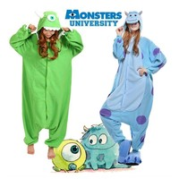 Monster University Pajamas Anime Costume Jumpsuit Adult Onesuit Fleece Sleepwear
