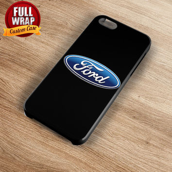 Ford Automobile Car Logo Full Wrap Phone Case For iPhone, iPod, Samsung, Sony, HTC, Nexus, LG, and Blackberry