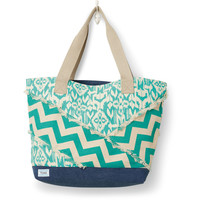 TOMS Jade Chevron Ikat Mix Breeze Tote