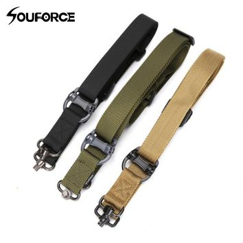 Tactical Gun Belt Gun Rope 1000D Nylon 3 Color Multi-function Two-point Task Rope Gun Accessories for Hunting