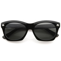 Womens Fashion Cateye Thick Bold Frame Horned Rim Sunglasses